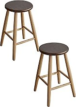 JTLXX77 Wooden Bar Stools, With Footrest, Firm,