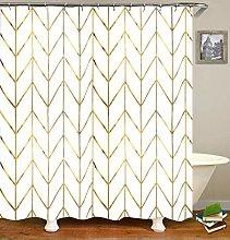 JTMall Gold Shower Curtain Set with 12 Hooks