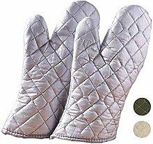 JU SHUN Oven Gloves Heat Resistant, Large Non Slip