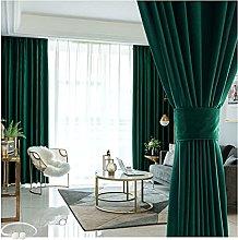 JUANstore Retro Blackout Curtain Solid Color