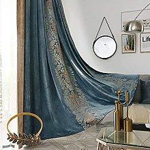 JUANstore Soft Luxury Velvet Blackout Curtain