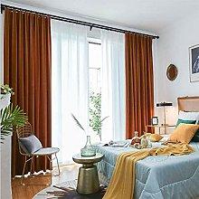 JUANstore Solid Matt Velvet Curtain, Thermal