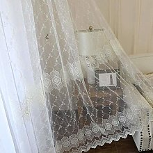 JUANstore Voile Curtain Embroidery European Style