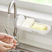 JUHON Kitchen Sink Drain Rack, Faucet Holder