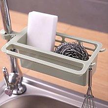 JUHON Kitchen Sink Sponge Storage Rack, Dish Drain