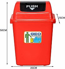 JUIO Covered Plastic Trash Can, Plastic Trash Can