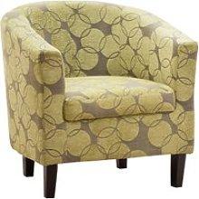 Jules Fabric Tub Chair, Green