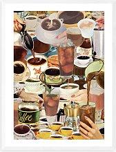Julia Walck - 'Wake Up & Coffee' Framed