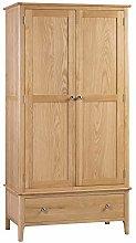 Julian Bowen Costwold 2 Door 1 Drawer Wardrobe, Oak