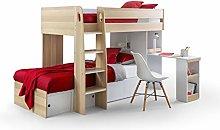 Julian Bowen Eclipse Bunk Bed & 2 Comfy