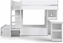 Julian Bowen Eclipse Bunk Bed, White, Single