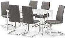 Julian Bowen Manhattan Gloss 150 Cm Dining Table +