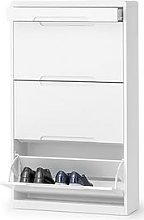 Julian Bowen Manhattan Shoe Cabinet With Drawer