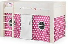 Julian Bowen Nova Mid Sleeper Bed With Pink Star