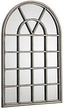Julian Bowen Opus Pewter Window Mirror