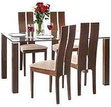 Julian Bowen Set Of Cayman Table & 4 Cayman Chairs