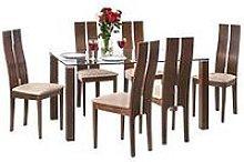 Julian Bowen Set Of Cayman Table & 6 Cayman Chairs