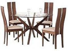 Julian Bowen Set Of Chelsea Glass Table & 4 Cayman