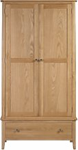 Julian Bowen Solid Oak 2 Door 1 Drawer Wardrobe -