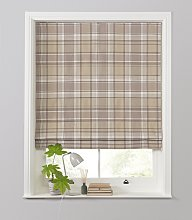 Julian Charles Checked Roman Blind - 4ft - Grey