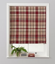 Julian Charles Checked Roman Blind - 4ft - Red
