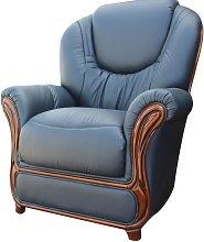Juliet Genuine Italian Sofa Armchair Blue Leather
