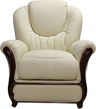 Juliet Genuine Italian Sofa Armchair Cream Leather