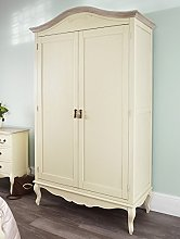Juliette Shabby Chic Champagne Double Wardrobe,