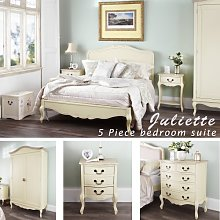 Juliette Shabby Chic Champagne King bed 5pc