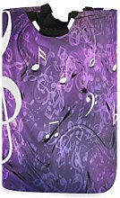 JULOE Large Laundry Hamper Musical Notes Purple