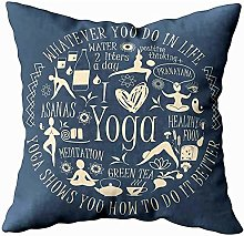 July Cushion Cover,Body Pillow Covers Yoga