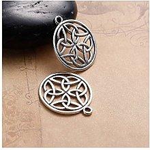 Julz Beads 10 Celtic Knot Pagan Circle Pendants -