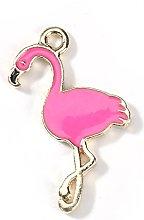 Julz Beads 10 Pink Flamingo Charms Animal Bird