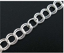 Julz Beads 4 Metres Double Link Silver Plated