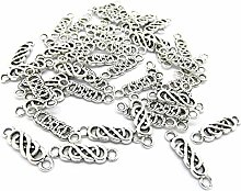 Julz Beads 50 Celtic Knot Connector Charms - 22mm