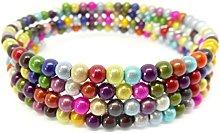 Julz Beads Disco Bead Memory Wire Bracelet