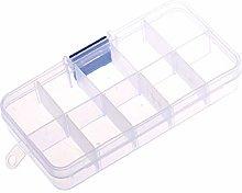 Julz Beads Small Plastic Storage Box With 10