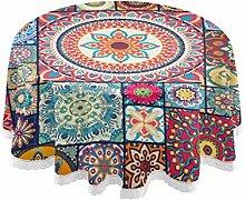 JUMBEAR Bohemia Round Tablecloth Polyester