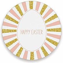 JUMBEAR Happy Easter Egg Stripe Coasters Absorbent