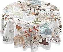 JUMBEAR Round Tablecloth Polyester Circular Table