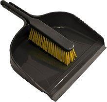 Jumbo Dustpan with Stiff Banister Brush (One Size)