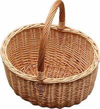 Jumbo Hollander Shopping Wicker Basket Brambly
