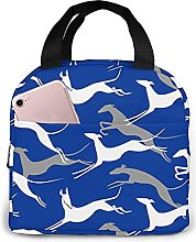 Jumping Greyhounds Blue Grill Portable Insulation