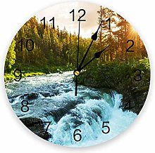 Jungle Forest Mountain Wall Clock, Used For Family
