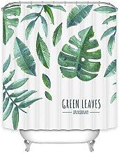 Jungle green fabric shower curtain - Waterproof -