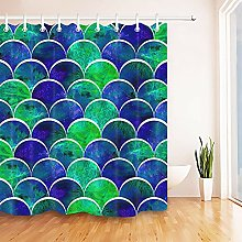 Jungle Green Leaves Shower Curtain Set for