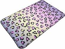 Jungle Leopard Skin Pattern Bath Mat Microfiber
