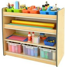 Junior Arts And Craft Storage Unit With 3 Shelves, Blue, Free Standard Delivery