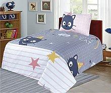 Junior Cot Bed Duvet Cover and Pillow Set- Cotton