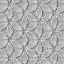 Juniper Geometric Petals Wallpaper Grey/Silver
